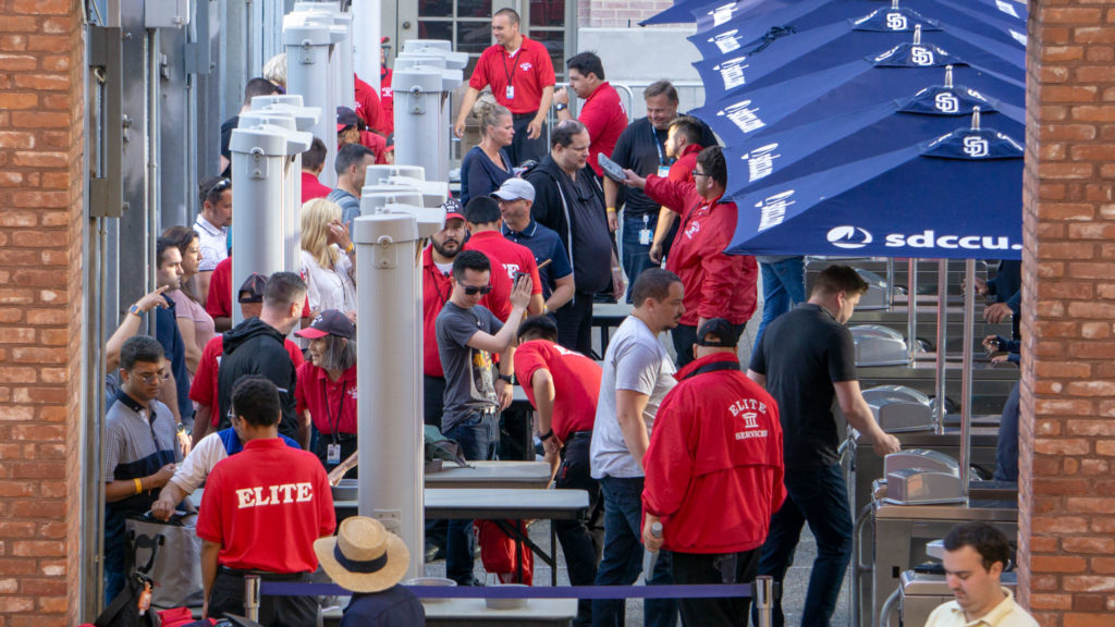 Special Event Security with bag check, scanners, and metal detectors