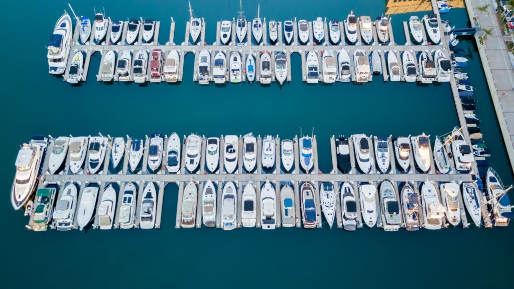 Marina from above